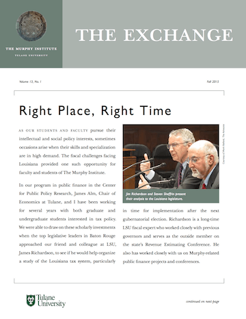 The Exchange, Fall 2015 - The Murphy Institute