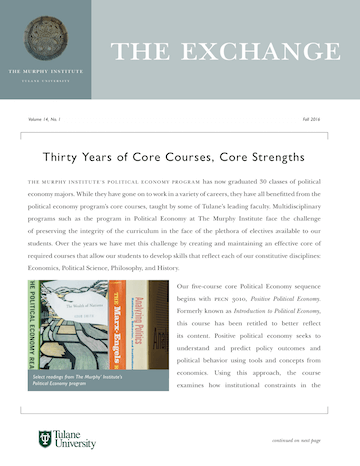The Exchange, Fall 2016 - The Murphy Institute