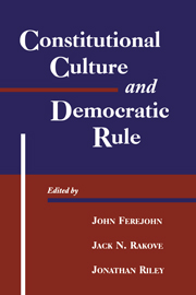 Volume 5: Constitutional Culture and Democratic Rule