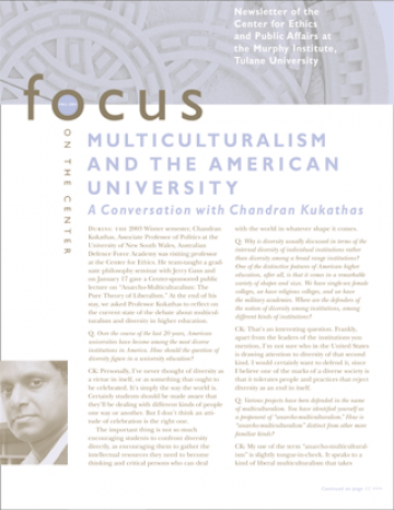 Focus On The Center, Fall 2003 - The Murphy Institute