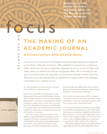 Focus On The Center, Fall 2004 - The Murphy Institute