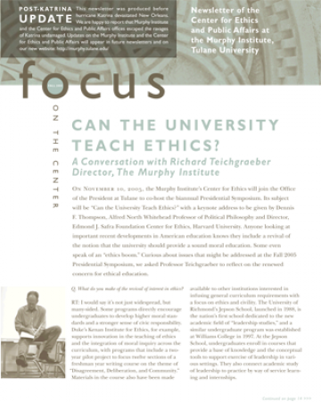 Focus On The Center, Fall 2005 - The Murphy Institute