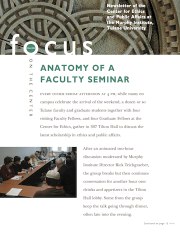 Focus On The Center, Fall 2008 - The Murphy Institute