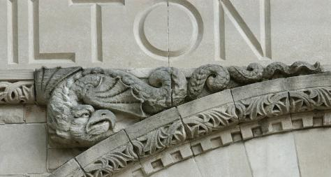 Close-up of Arch on Building on Tulane University's Campus - The Murphy Institute