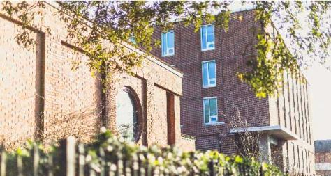 Building on Tulane University's Campus from Downward Angle - The Murphy Institute
