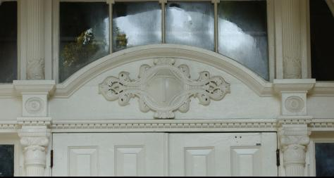 Close-Up Of The Top Of Tilton Hall Door - The Murphy Institute