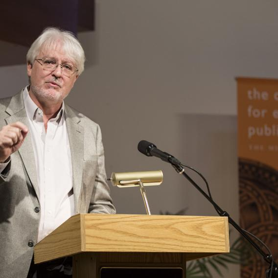 Bruce Brower Speaking at a Center for Ethics and Public Affairs Event - The Murphy Institute