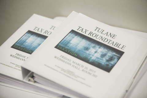 Tulane Tax Roundtable Binders - The Murphy Institute