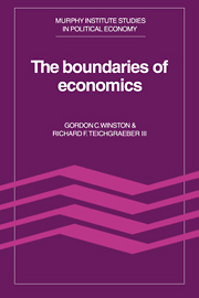 Volume I: The Boundaries Of Economics