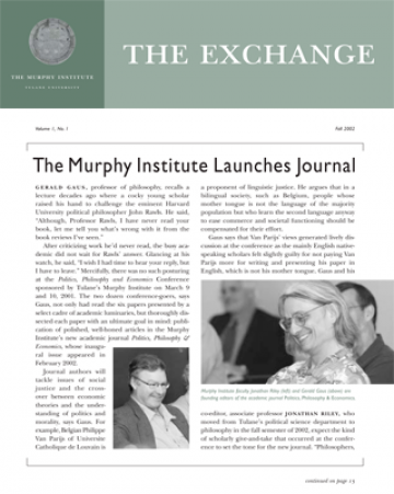 The Exchange, Fall 2002 - The Murphy Institute