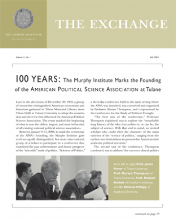 The Exchange, Fall 2004 - The Murphy Institute