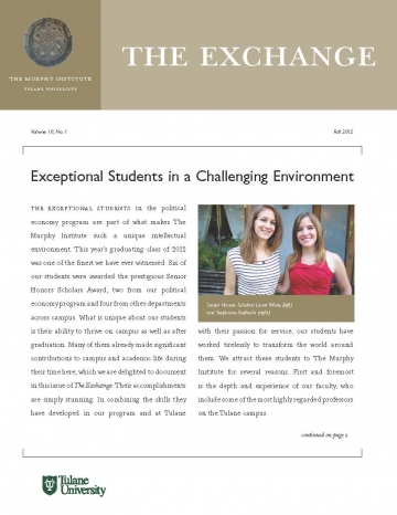 The Exchange, Fall 2012 - The Murphy Institute